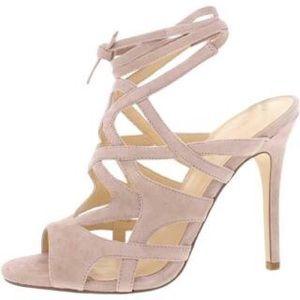 Ivanka Trump Womens Hesther Beige Evening Sandals